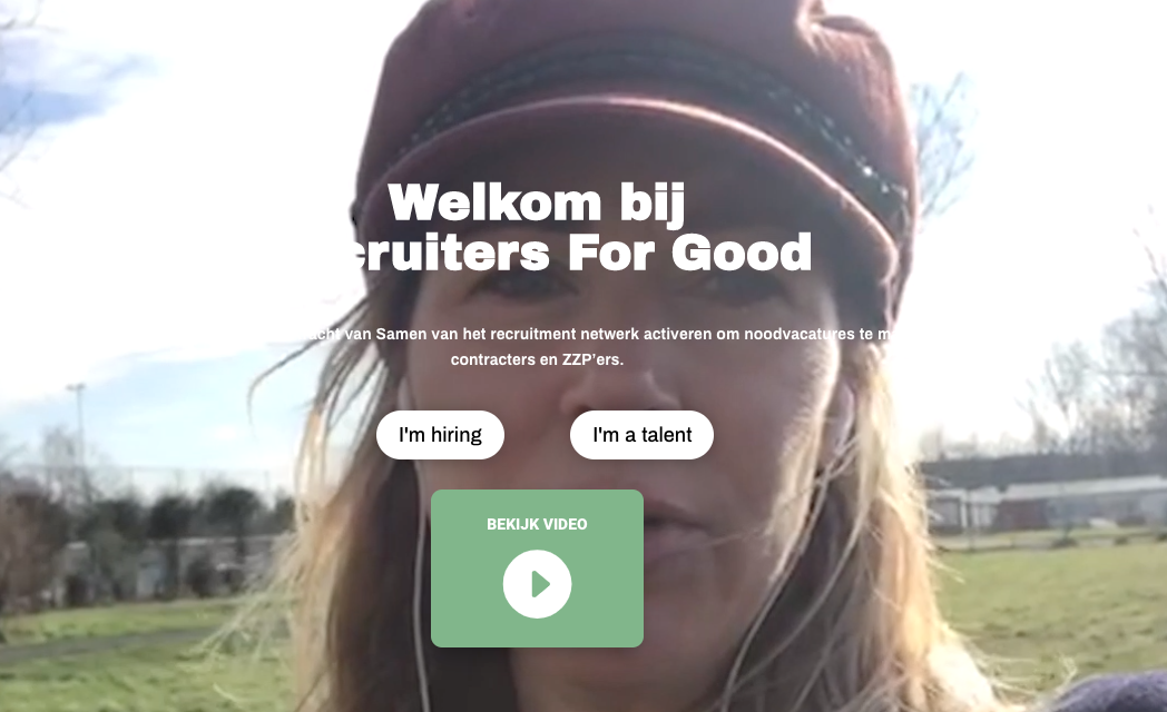Welkom bij recruiters for good